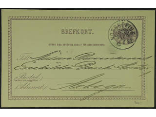 Sweden. Facit bKe6, E county. NORRKÖPING 10.7.1882. Beehive cancellation on postcard …
