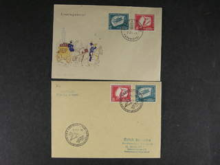 Germany GDR (DDR). FDC Michel 280–81 , 1951 Second Winter Sport Championships SET (2). …