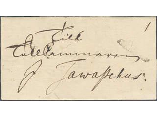 """Sweden. A county. STOCKHOLM, ribbon postmark. Type 5 on letter dated """"Stockholm den 8 …"""