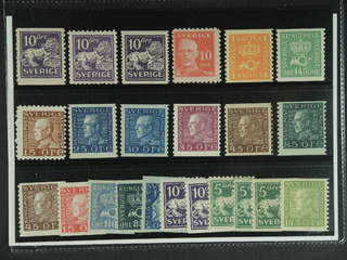 Sweden. ★★ 1920–36. Small coil stamps, all different, e.g. F 145A + C + E, 149C, 168b, …