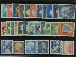 Germany GFR (BRD). ★ 1949-54. All different, e.g. Mi 111-12, 115, 143-47, 159, 161, 176. …