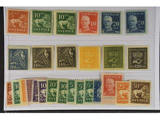 Sweden. ★ 1920–34. Coil stamps.. All different, e.g. F 141, 144Ccx, 144Ecxz, 149A, …