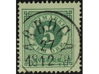 Sweden. Facit 30c used , 5 öre green, rich smooth print. EXCELLENT cancellation ARBOGA …