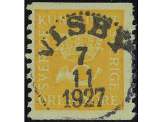 Sweden. Facit 157 used , 35 öre yellow type II. EXCELLENT cancellation VISBY 7.11.1927. …
