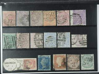 Britain. Used 1841-1883. All different, e.g. Mi 13z, 14, 20, 24, 28, 30, 33, 40, 47, 51. …