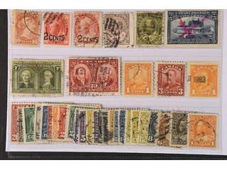 Canada. Used 1870–1930. All different, e.g. Mi 31, 75-76, 81-82, 87-88, 126, 128D, 130, …