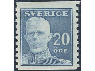 Sweden. Facit 151A ★★ , 1920 Gustaf V full face 20 öre blue, perf on two sides. SEK1000