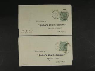 Britain. Michel 55 cover , 1880 Queen Victoria wmk Imperial Crown ½ d deep green, …