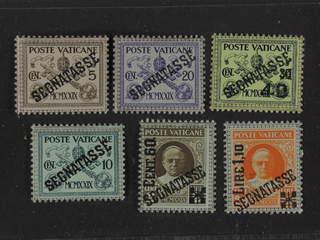 Vatican. Postage due Michel 1–6 ★★ , 1931 Overprint SET (6). EUR200