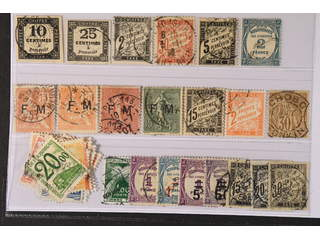 France. Used 1901–60. Back-of-the-book. All different, e.g. Mi Ostage Due 2, 5, 11, 14, …