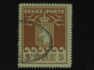 Denmark Greenland. Facit P6 I used , 5 øre red brown. Part of oval pmk. Good centering.