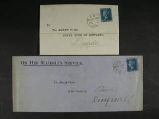Britain. Michel 17 cover , 1858 Queen Victoria, with corner letters 2 d blue, single …
