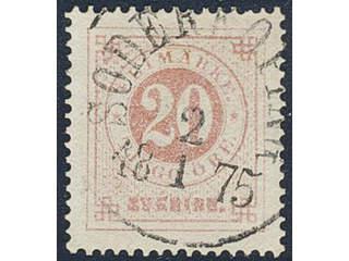 Sweden. Facit 22d used , 20 öre pale red. EXCELLENT cancellation SÖDERKÖPING 2.1.1875. A …