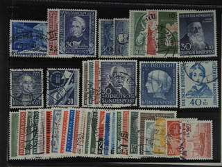 Germany GFR (BRD). Used 1949–59. All different, e.g. Mi 116-17, 120, 147, 150-51, 154, …