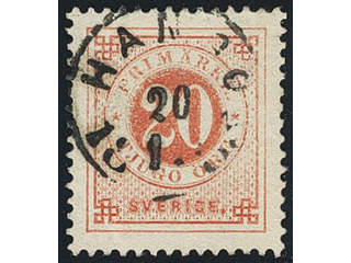 Sweden. Facit 33. FINLAND. Finnish town cancellation HANGÖ 20.1.1883. Superb cancellation.