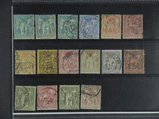 France. Used 1876–1900. All different, e.g. Mi 58-60 I, 63 I, 65 I, 66 II, 70, 75, 81 I, …