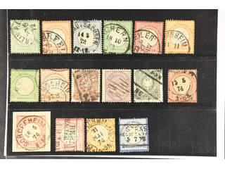 Germany Reich. Used 1872–1879. All different, e.g. Mi 2-3, 5, 7, 9, 14, 17, 21, 35, 37. …