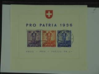 Switzerland. Michel 294–96 used , 1936 Pro Patria souvenir sheet 2. EUR260