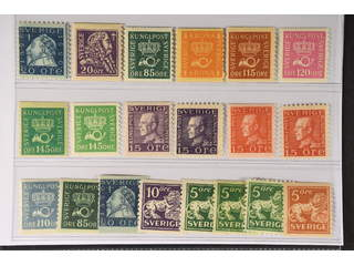 Sweden. ★★ 1920–36. Coil stamps. All different, e.g. F 152C, 153, 166b, 168b, 170a, …