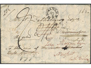 Sweden. Foreign-related cover. Great Britain. Partly prepaid letter sent from STOCKHOLM …