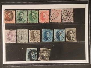 Belgium. Used 1851–1869. All different, e.g. Mi9II, 10A+C, 13B, 17, 18C, 26A. Mostly …
