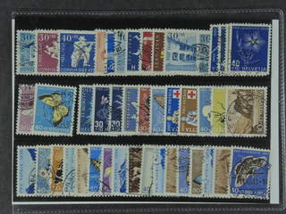 Switzerland. Used 1946–61. All different, e.g. Mi 474, 548-49, 553-54, 564-65, and …