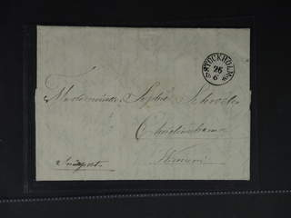 Sweden. A county. STOCKHOLM 26.6.56, general mail. Folded letter with notation …