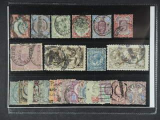 Britain. Used 1885-1924. All different, e.g. Mi 92, 95, 97, 101, 112-13, 115, 141 I, …
