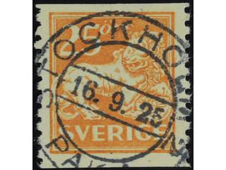 Sweden. Facit 147 used , 25 öre orange. EXCELLENT cancellation STOCKHOLM 16.9.25.