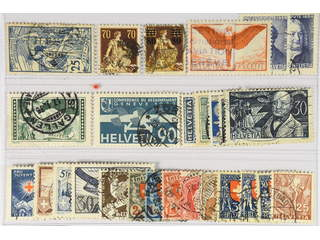 Switzerland. Used 1900–35. All different, e.g. Mi 73, 108, 127, 190x, 228, 258. Mostly …