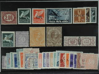 Italy. ★ 1875-1946. Back-of-the-book, All different, e.g. Officials Mi 7, Mil 18-20, GNR …
