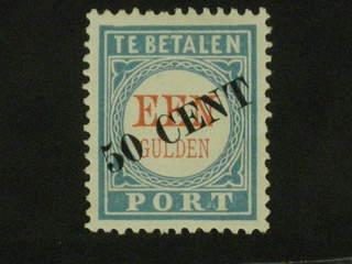 Netherlands. Postage due Michel 27 ★ , 1906 New value overprint 50 c on 1 G pale …