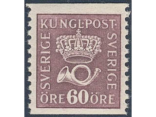 Sweden. Facit 162b ★★ , 60 öre brownish red-lilac, type I.