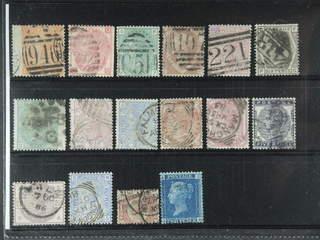 Britain. Used 1858-1883. All different, e.g. Mi 24, 28, 33, 37, 40, 44, 46-47, 51, …