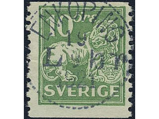 Sweden. Facit 144Abz used , 10 öre green, type I with watermark KPV. EXCELLENT …