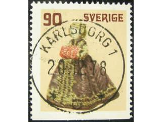 Sweden. Facit 1064 used , 1978 Old Toys 90 öre Doll. EXCELLENT cancellation KARLSBORG 1 …