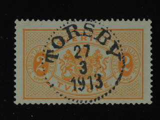 Sweden. Official Facit Tj11d used , 2 öre red-orange, oily colour perf 13, white paper. …