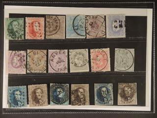 Belgium. Used 1863–. All different, e.g. Mi 10C, 21-22, 33, 46. Mostly good quality. Mi …