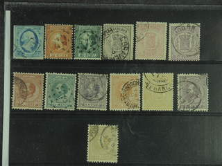Netherlands. Used 1852–1872. All different, e.g. Mi 1, 9-10, 14, 16B, 18B, 20, 25, and …