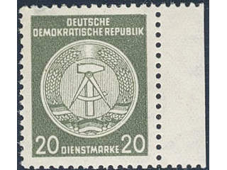 Germany GDR (DDR). Official Michel DI22xIXI ★★ , 1954 20 (pf), (A) for administrative …