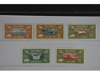 Iceland. Facit 189–93 ★ , 1930 The Parliament. Air mail SET (5). SEK1700