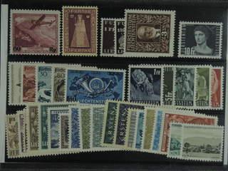 Liechtenstein. ★ 1935–51. All different, e.g. Mi 148, 197, 189-91, 266, 284-88, and …