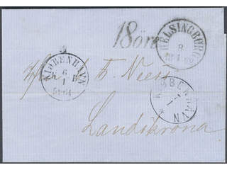 Sweden. Postage due mail. Postage due cancellation 18 ÖRE on unpaid cover sent from …