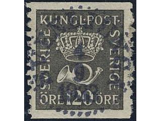 Sweden. Facit 171 used , 120 öre black. EXCELLENT cancellation SVENLJUNGA 4.9.1923.