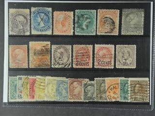 Canada. Used 1860-1922. All different, e.g. Nova Scotia Mi 6-7, Canada Mi 10, 19-20, 24, …