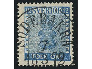 Sweden. Facit 9c3, H county. SÖDERÅKRA 7.3.1872, circle cancellation. Postal:300:-