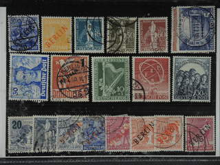 Germany Berlin. Used 1948–50. All different, e.g. Mi 13, 27, 36, 38-39, 59-60, 63, …