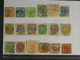 Denmark. Used 1851–1895. All different, e.g. F 2-3, 5, 11-12, 20, 23, 30, 34-37. Mostly …