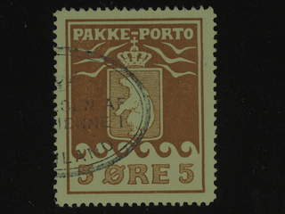 Denmark Greenland. Facit P6 used , 5 øre red brown. Part of oval pmk. Perfect centering.