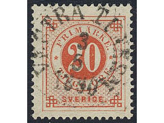 Sweden. Facit 46, P county. VESTRA TUNHEM 3.5.1890.